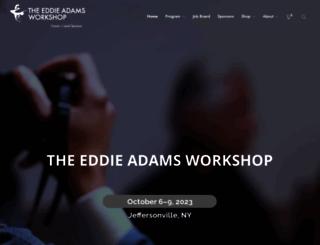 eddieadamsworkshop.com screenshot