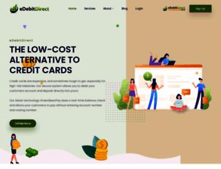 edebitdirect.com screenshot