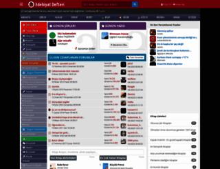 edebiyatdefteri.com screenshot