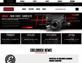edelbrock.com screenshot