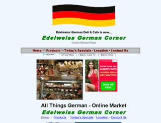 edelweissgermandeli.com screenshot