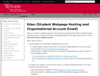 eden.rutgers.edu screenshot