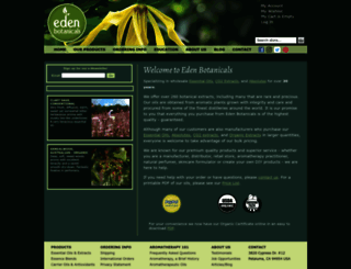 edenbotanicals.com screenshot
