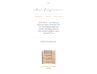 edenfragrance.com screenshot