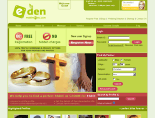 edenmatrimony.com screenshot