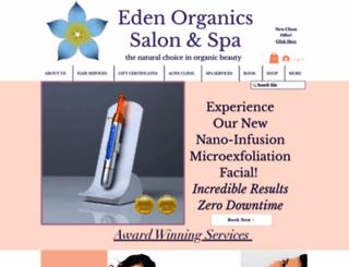 edenorganicssalonandspa.com screenshot