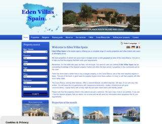 edenvillasspain.com screenshot