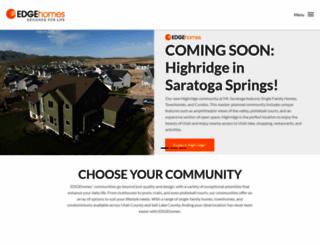 edgehomes.com screenshot