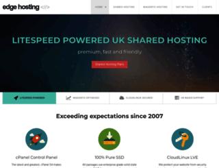 edgehosting.co.uk screenshot