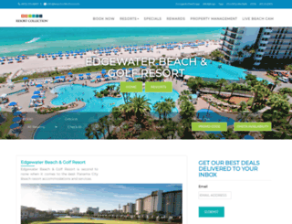 edgewaterbeachresort.com screenshot