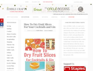 ediblecrafts.craftgossip.com screenshot