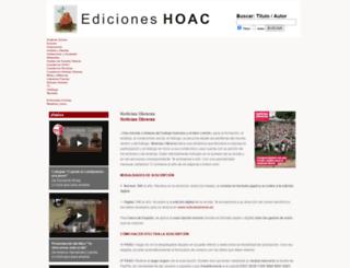 edicioneshoac.org screenshot