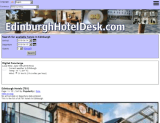 edinburghhoteldesk.com screenshot
