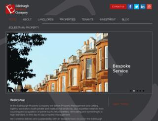 edinburghpropertyco.co.uk screenshot