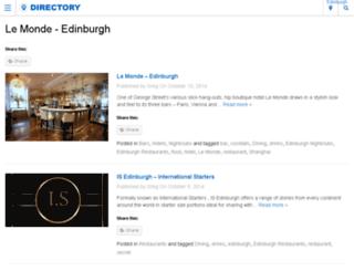 edinburghsnightlife.com screenshot
