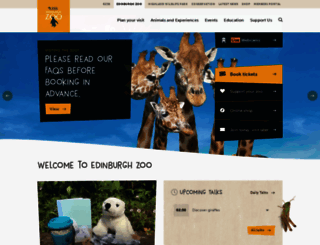 edinburghzoo.org.uk screenshot