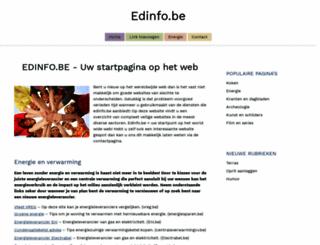edinfo.be screenshot