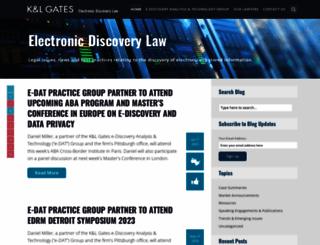 ediscoverylaw.com screenshot