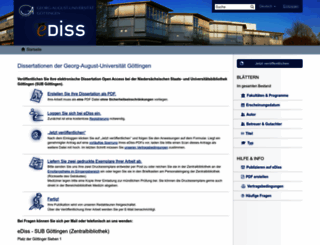 ediss.uni-goettingen.de screenshot