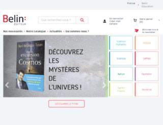 editions-belin.fr screenshot