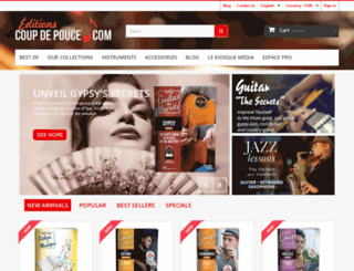 editions-coupdepouce.com screenshot