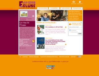 editions-de-lecluse.com screenshot