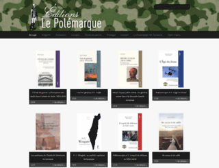 editions-lepolemarque.com screenshot