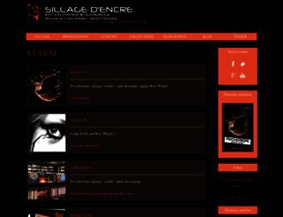 editions-sillagedencre.fr screenshot