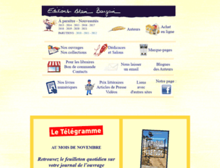 editionsalainbargain.fr screenshot
