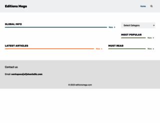 editionsmego.com screenshot