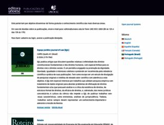editora.unoesc.edu.br screenshot