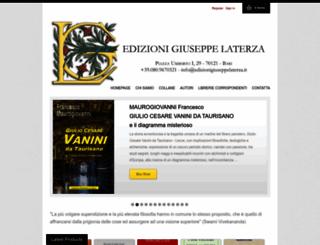 edizionigiuseppelaterza.it screenshot