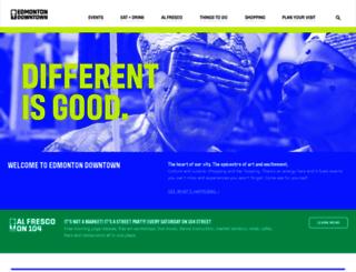 edmontondowntown.com screenshot