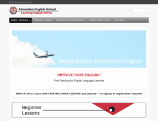 edmontonenglishschool-learningenglishonline.com screenshot