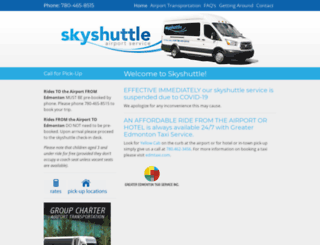 edmontonskyshuttle.com screenshot