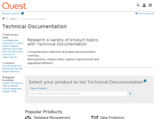 edocs.quest.com screenshot
