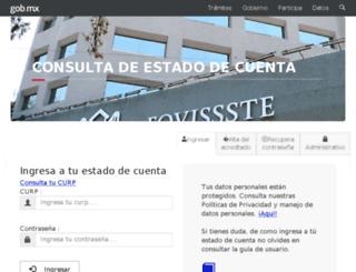 edocta.fovissste.com.mx screenshot