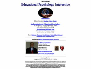 edpsycinteractive.org screenshot