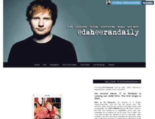 edsheerandaily.tumblr.com screenshot