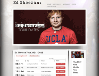 edsheerantourdates.com screenshot