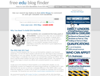 edublogfinder.com screenshot