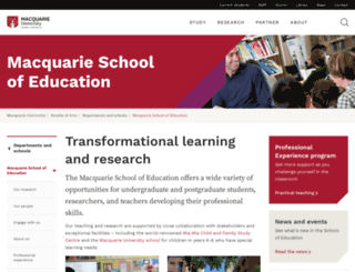 educ.mq.edu.au screenshot