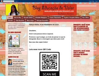 educacaodevalor.blogspot.com.br screenshot
