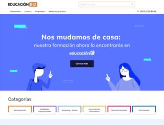 educacionbiz.com.ar screenshot