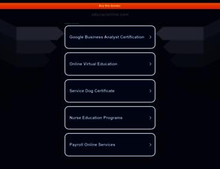 educacionline.com screenshot