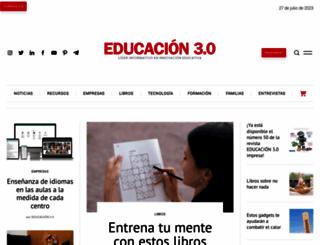 educaciontrespuntocero.com screenshot