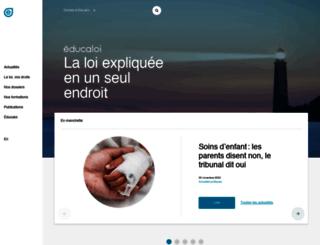 educaloi.qc.ca screenshot