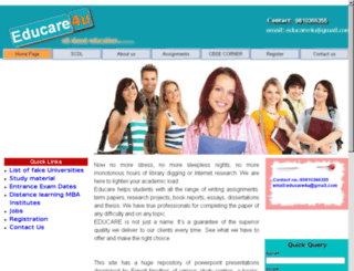 educare4u.co.nr screenshot