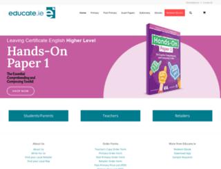 educate.ie screenshot