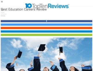 education-careers-review.toptenreviews.com screenshot